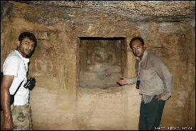 Axat & me in Bhudhist cave at Dhank