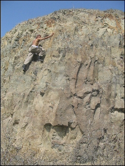 Axat rock climbing at Ajaad